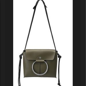 Melie Bianco Dillen  Vegan Leather  Ring Olive Bag